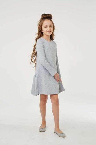 Платье для девочки размер 116, Звезды Серый меланж, УМКА