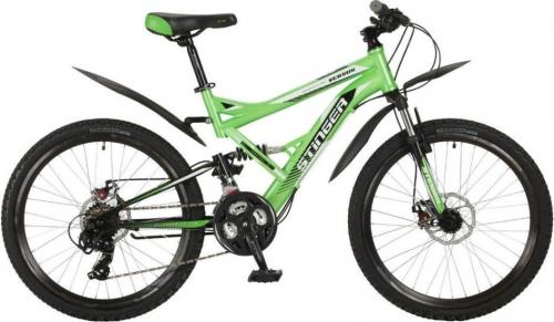 Велосипед Stinger Versus D, зеленый/черный, рама 24