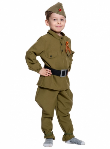 Карнавальный костюм Солдатик (без сапог), 7-9 лет