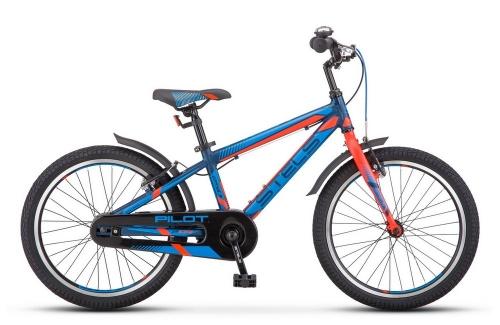 Велосипед Stels Pilot-250 Gent, темно-синий/неоновый красный, рама 20