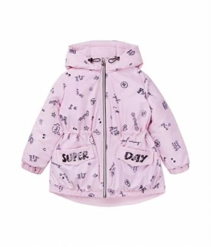 Куртка для девочки, размер 4 (104-56) демисезонная, сиреневая Bellbimbo 191176
