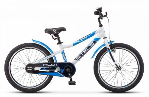 Велосипед Stels Pilot-210 Gent, белый/синий, рама 20