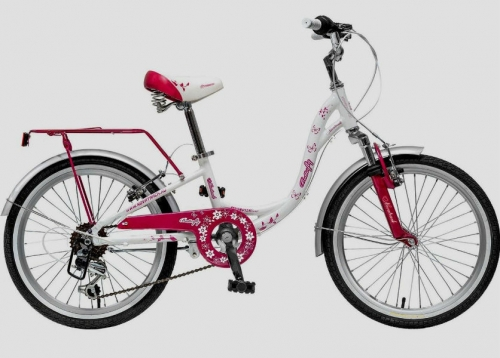 Велосипед Novatrack Butterfly, белый, рама 20