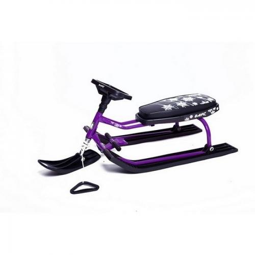 Снегокат Барс черный с фиолетовой рамой - 001