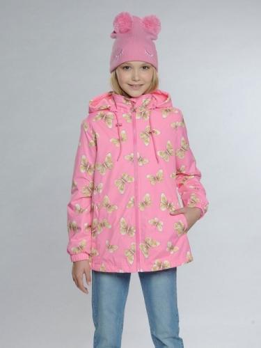 Ветровка для девочек, размер 10, розовая Pelican