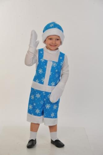 Карнавальный костюм Новый Годик ткань-плюш (полукомбинезон, шапка, варежки) 3-6 лет