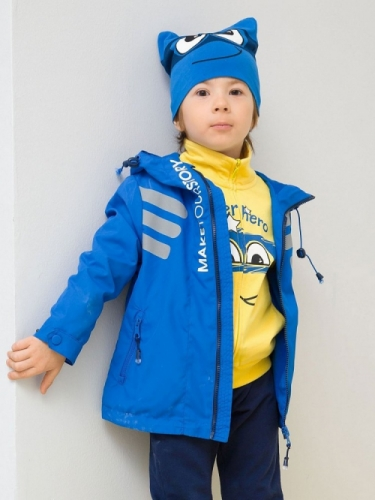 Ветровка для мальчиков, размер 6, синяя Pelican