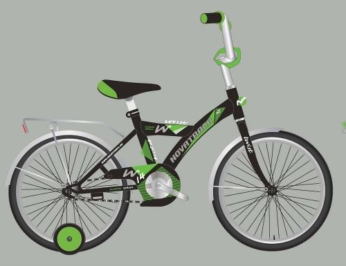Велосипед Novatrack Twist, черный, рама 14