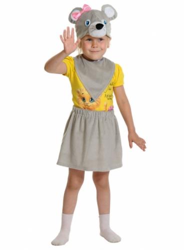 Карнавальный костюм Мышка Лайт (юбка, маска, манишка) 3-5 лет