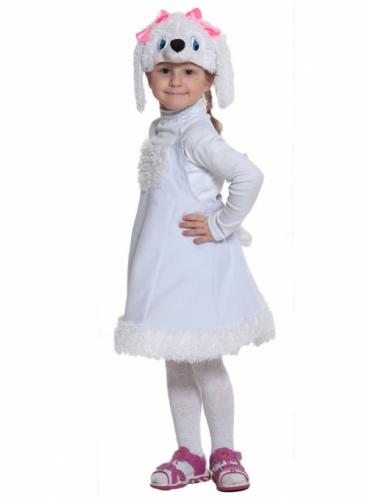 Карнавальный костюм Пуделиха ткань-плюш (сарафан, маска) 3-6 лет