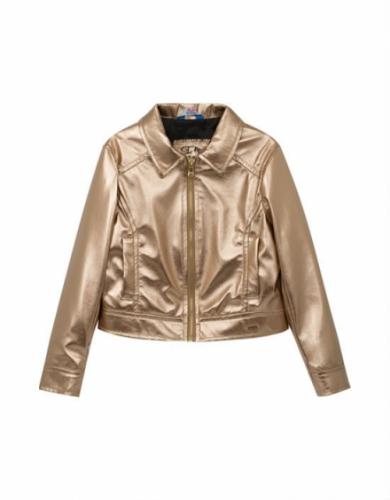 Куртка-косуха для девочки, размер 7 (122-64) демисезонная, бронза Bellbimbo 191227