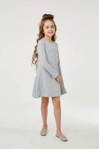Платье для девочки размер 134, Звезды Серый меланж, УМКА