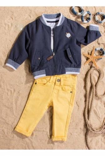 Костюм для мальчика, размер 12 месяцев, темно-синий/желтый, Bebus