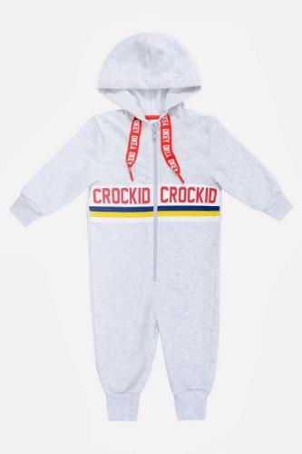 Комбинезон Сrockid светло-серый меланж, размер 122