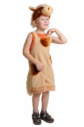 Карнавальный костюм Коник ткань-плюш (полукомбинезон, маска) 3-6 лет