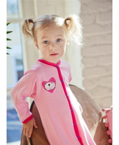 Комбинезон Lucky Child LOVE (арт. А6-103/розовый),размер 22 (68-74)