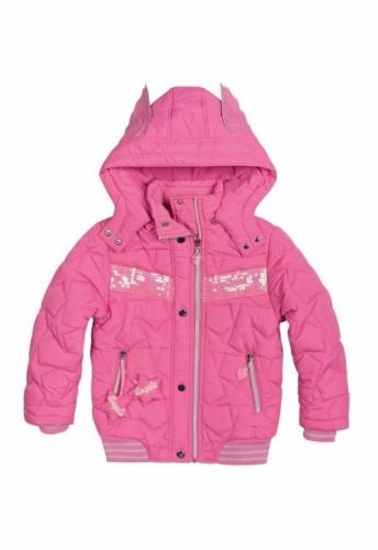 Куртка для девочек, размер 7, демисезонная, розовая Pelican GZWL484