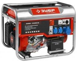 Генератор бензиновый ЗУБР ЗЭСБ-5500-ЭА 5000/5500 Вт ручной/электрический запуск