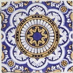 Вставка Сокол Майолика D709d орнамент матовая 16.5х16.5