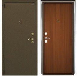 Стальная дверь Гардиан Фактор К медный антик/темный орех левая 2 замка 980x2050 мм