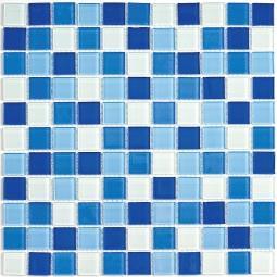 Мозаика Bonаparte Blue wave-3 голубая глянцевая 30x30