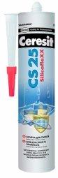 Затирка-герметик Ceresit СS 25 силиконовая с усиленным противогрибковым эффектом белый (280мл)