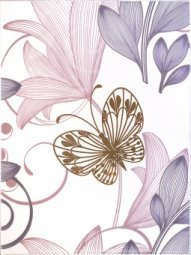 Декор Сокол Вальс цветов D680 орнамент глянцевый 33x44