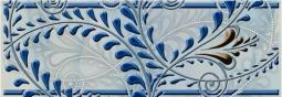 Бордюр Береза-керамика Елена каприз Фриз синий 20х7