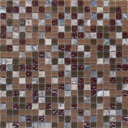 Мозаика Elada Crystal+Stone HK-49 сливовый микс 32.7x32.7