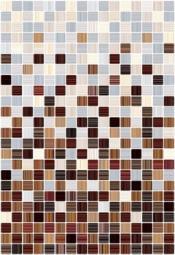 Плитка для стен Керамин Гламур 3С микс Коричневый 40x27,5