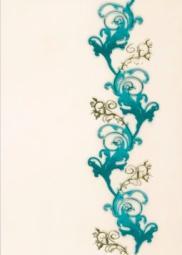 Декор Береза-керамика Магия зеленый 25х35