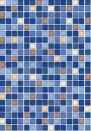 Плитка для стен Пиастрелла Меланж ПО низ люкс синяя 28х40