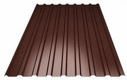 Профнастил С-8 (RAL 8017) коричневый шоколад 1200х2000х0.4