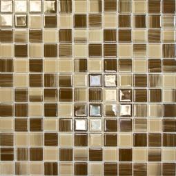 Мозаика Elada Crystal JSM-CH1018 бежевая полосатая 32.7x32.7