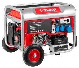 Генератор бензиновый ЗУБР ЗЭСБ-5500-ЭНА 5000/5500 Вт ручной/электрический запуск