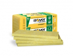 Минераловатный утеплитель Isover Стандарт 50 1200х600х50 мм / 8 шт.