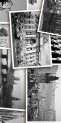 Вставка Golden Tile Absolute Collage черный  Г2С411 300х600