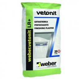 Шпатлевка Weber.Vetonit LR+ финишная для сухих помещений 25 кг