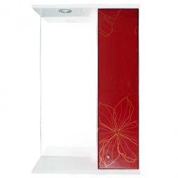 Шкаф-зеркало Iris Панда 550/с 3D Красные цветы
