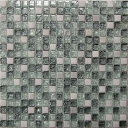 Мозаика Bonаparte Glass Stone 11 серая глянцевая 30x30
