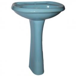 Раковина Santeri Воротынский с пьедесталом Воротынский 57.1х45.4х84 голубая