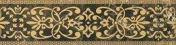 Бордюр Cracia Ceramica Bohemia Brown Border 01 25x6,5