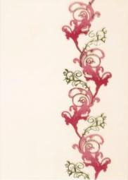 Декор Береза-керамика Магия бордовый 25х35