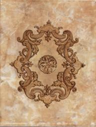 Декор Lasselsberger Капри коричневый 25x33