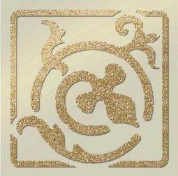 Декор Freelite Универсальные вставки для пола Брест Бежевый шампань 6x6