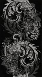 Декор Lasselsberger Азур черный 25х45
