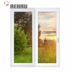 Окно раздвижное Rehau 2100x2000 двухстворчатое ПР1000/ЛГ1000 1 стекло