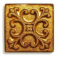 Декор Freelite Стеклянные вставки для пола Берлин Золото 6x6
