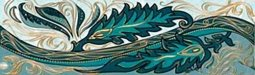 Бордюр Golden Tile Александрия бирюзовый 6х20