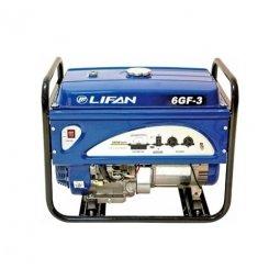 Генератор бензиновый Lifan 6GF-4 6000/6500 Вт ручной/электрический запуск
